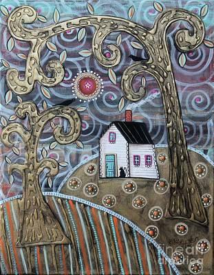 Glistening Landscape Poster by Karla Gerard