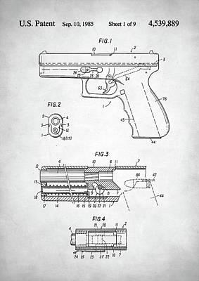 Glock Patent Poster by Taylan Soyturk