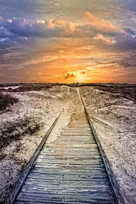 Glow On The Dunes Poster by Debra and Dave Vanderlaan