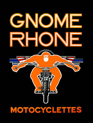 Gnome Rhone Motorcycles Poster by Mark Rogan