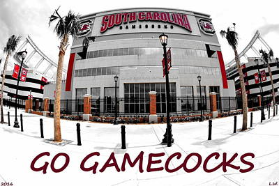 Go Gamecocks Poster by Lisa Wooten