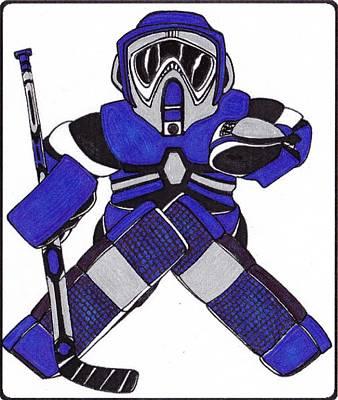 Goalie Blue Poster by Hockey Goalie
