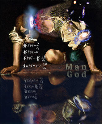 God Is Man Poster by Robert G Kernodle