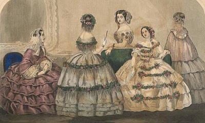 Godey 1858 #2 Poster by Karen Szatkowski