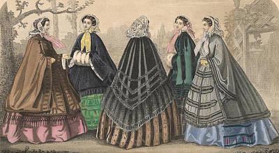 Godey 1858 #4 Poster by Karen Szatkowski