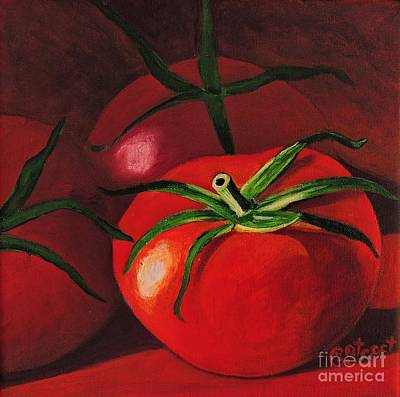 God's Kitchen Series No 3 Tomato Poster by Caroline Street