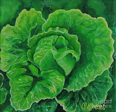 God's Kitchen Series No 5 Lettuce Poster by Caroline Street