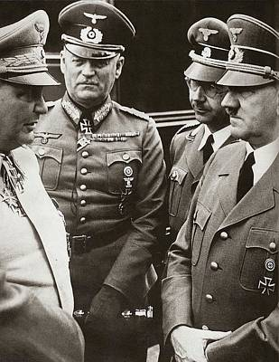 Goering Keitel Himmler And Hitler On His Birthday Circa 1941 Poster by David Lee Guss