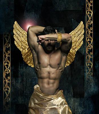 Gold Man  Poster by Mark Ashkenazi