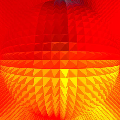 Gold-red Globe Poster by Ramon Labusch