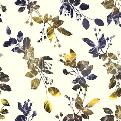 Golden Branches Poster by Varpu Kronholm