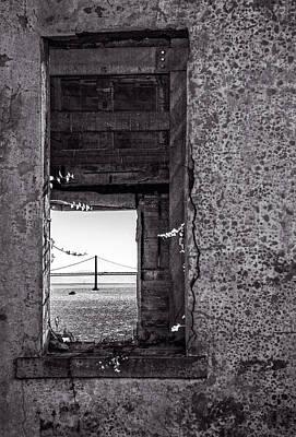 Golden Gate Bridge From Alcatraz Poster by Mike Burgquist