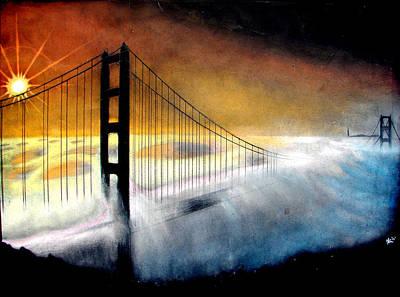 Golden Gate Bridge Poster by Marcus Quinn