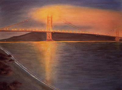 Golden Gate Bridge San Francisco Poster by Ken Figurski