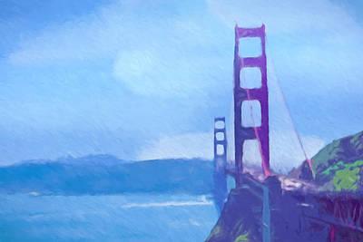 Golden Gate Impressionist Poster by Impressionist Art