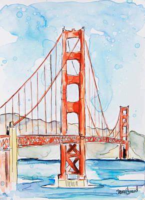 Golden Gate Poster by Shaina Stinard