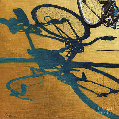 Golden Shadows - Wheels Poster by Linda Apple