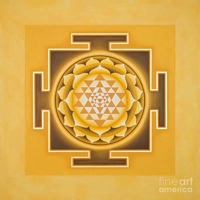 Golden Sri Yantra - The Original Poster by Piitaa - Sacred Art