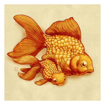 Goldfish I Poster by Catherine Noel