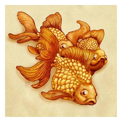 Goldfish IIi Poster by Catherine Noel