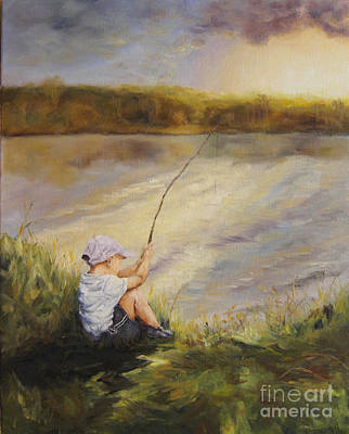 Gone Fishing Poster by Diane Kraudelt