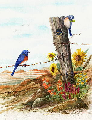 Gonna Find Me A Bluebird Poster by Marilyn Smith