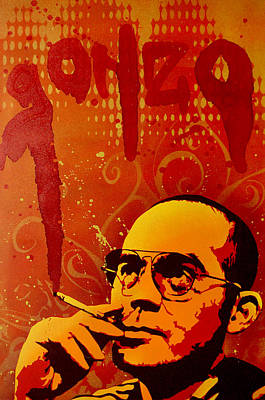 Author Poster featuring the painting Gonzo - Hunter S. Thompson by Tai Taeoalii