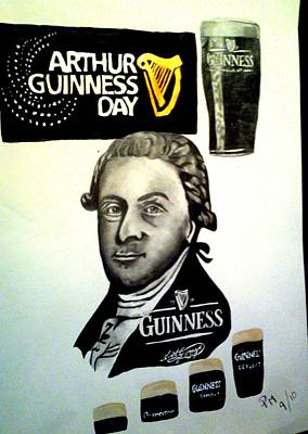 Good Day For A Guinness Poster by Pauline Murphy