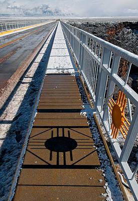 Gorge Bridge Zia Symbol Poster by Britt Runyon
