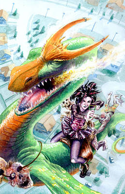 Goth Dragon Poster by Ken Meyer jr