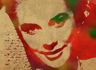 Grace Kelly Watercolor Portrait Poster by Design Turnpike