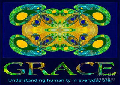 Graceful Humanity Spiritual Artwork By Omashte Poster by Omaste Witkowski