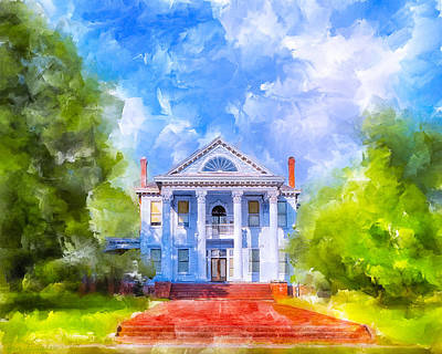 Gracious Living - Classic Southern Home Poster by Mark E Tisdale