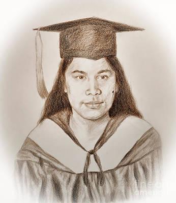 Graduation Portrait Of A Filipina Beauty  Poster by Jim Fitzpatrick