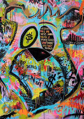 Nyc Graffiti Poster by Jessica Jenney
