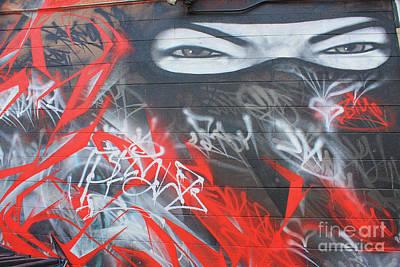 Graffiti Ninja  Poster by Teresa Thomas