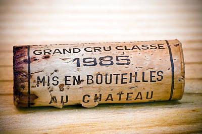 Grand Cru Classe Bordeaux Wine Cork Poster by Frank Tschakert