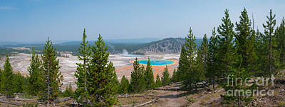 Grand Prismatic Spring Panorama Poster by Michael Ver Sprill