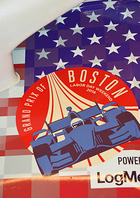 Grand Prix Of Boston Poster by Mike Martin