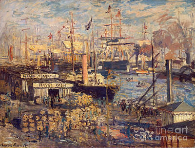 Grand Quai At Havre Poster by Claude Monet