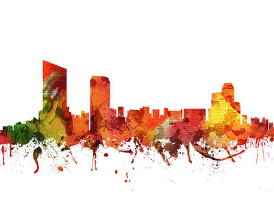 Grand Rapids Cityscape 04 Poster by Aged Pixel