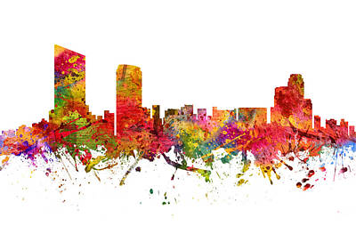Grand Rapids Cityscape 08 Poster by Aged Pixel