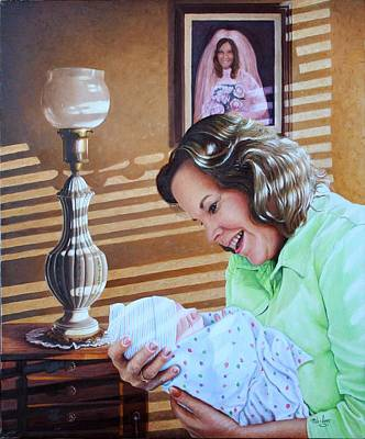 Grandma And Granddaughter Poster by Mike Ivey