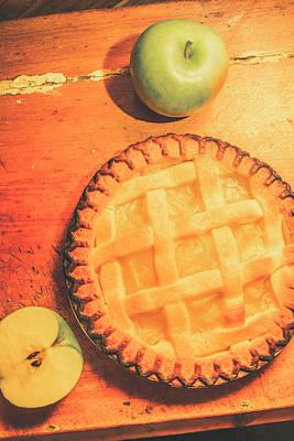 Grandmas Homemade Apple Tart Poster by Jorgo Photography - Wall Art Gallery