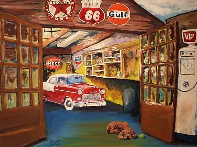 Grandpa's Garage Poster by Tim Loughner
