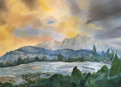 Granite Grandeur-sierra Morning Poster by Roy Gould