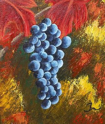 Grape Harvest Poster by Christina Burke-Gagnon