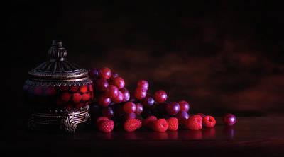 Grape Raspberry Poster by Tom Mc Nemar