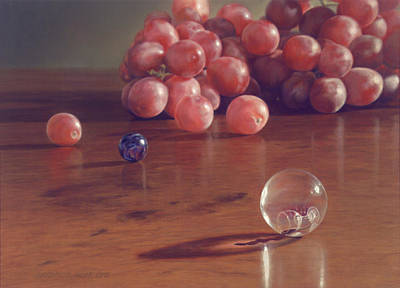 Grapes And Marbles Poster by Barbara Groff