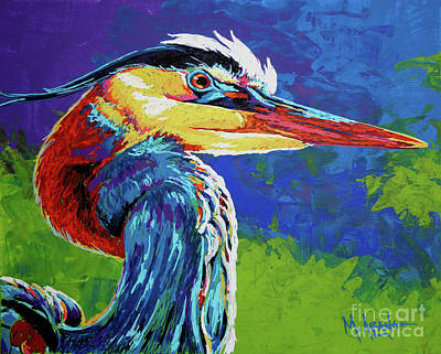 Great Blue Heron Poster by Maria Arango